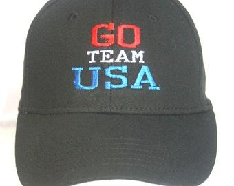 Go Team USA Polo Style Ball Cap