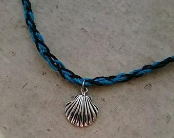 Seashell Braided Hemp Choker