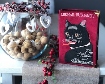 Book clutch the MASTER AND MARGARITA by M. Bulgakov - clutch bag - clutch with a book cover - different colors - 100% handmade