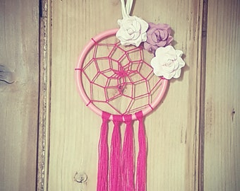 Sweet Dreams pink dreamcatcher