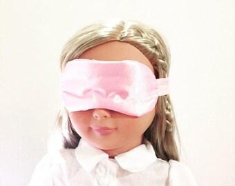 Pink sleep mask for dolls