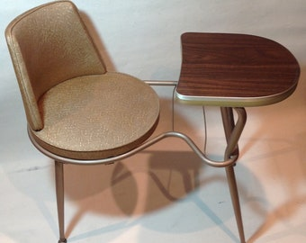 Midcentury Telephone table /. Shipping is not free. /