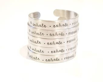 inhale. exhale. repeat - Cuff Bracelets