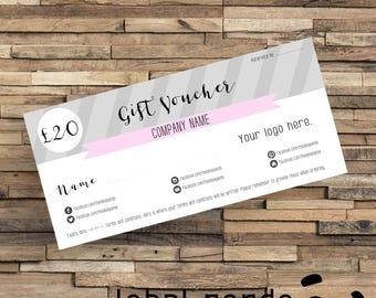 Printed Gift Certificates, Custom Gift Certificate, Printed Gift Voucher, Printed Gift Card, Custom Gift Card, Custom Business Stationery