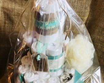 Neutral 3-Tier Diapercake