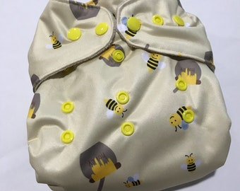 Bumble Bee One Size Pocket Diaper