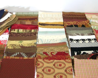Fabric Swatches for Crafts, 116 Pieces
