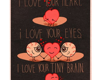 Mommy I love your Heart, Your Eyes and Your Tiny Brain Art Prints, Art Print, Art Prints Online, Art Prints for Sale, Mothers Day Gift