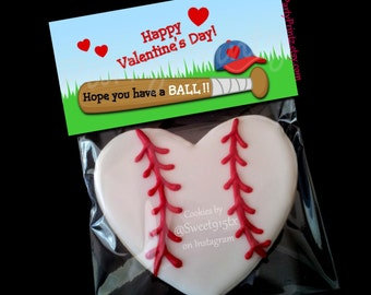 INSTANT DOWNLOAD - Printable Treat Bag Toppers  - Hope you have a BALL - Baseball