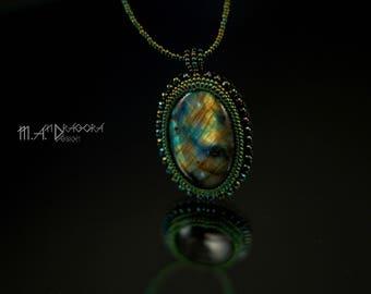 Jewelry Set with labradorite Pendant labradorite beads stone handmade jewelry Bead pendant Labradorite ring
