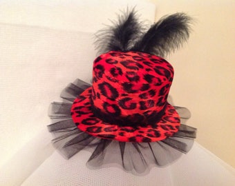 Steampunk mini top hat fascinator