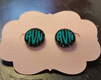 Personalized Monogram Acrylic Earrings