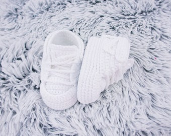 Crochet baby shoes Baby sneakers Baby booties Baby slippers, 3-6 months, Newborn baby, Newborn baby gift, 0-3 months, Baby boy shoes,