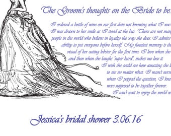 Bridal Sketch for Jessica