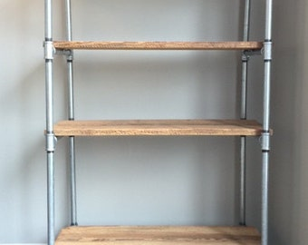 Reclaimed Barnwood Industrial Shelf - FREE LOCAL DELIVERY