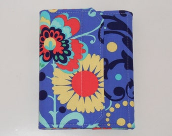 Kindle Cover Hardcover, Nook HD 7 Standable Cover,  Standable Hardcover Case all sizes, Paradise Garden Blue eReader Cover