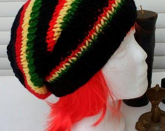 Gorro rasta negro,Black rasta hat.