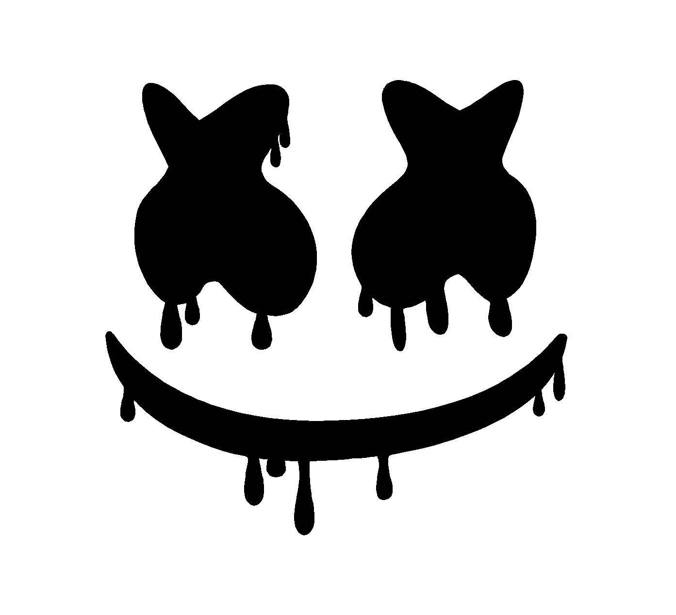 Dripping marshmello edm dj vinyl decal car laptop sticker zoom stopboris Images
