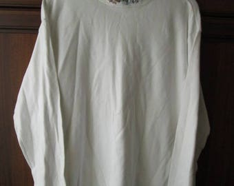 Northern Reflections Mens White Long Sleeved Sweatshirt Size L Large Used Made in Canada Worldwide Shipping