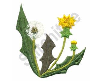 Dandelion - Machine Embroidery , Flower, Weed