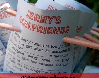 Seinfeld Party Game / download + print / SEINFELD Theme Party / Jerry's Girlfriends Game
