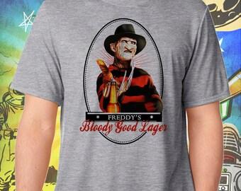 Nightmare on Elm Street / Freddy Kruger / Bloody Good Ale / Men's Gray Performance T-Shirt