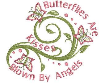 Swirls & Butterflys Embroidery Designs set..