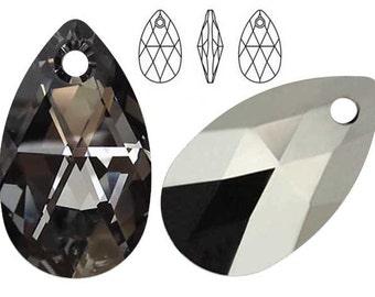 Swarovski Crystal 6106 Pear-Shaped 16mm, 22mm, 28mm Silver Night