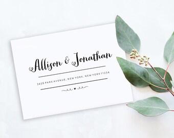 Envelope Template, Editable Printable Template, Printable Envelope, Modern Calligraphy Wedding Envelope | No. EDN 5003
