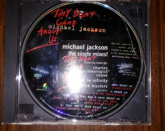 ultra rare michael jackson promotional cd they don't care about us very hard to find cd valuable michael jackson promo music