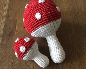 Pattern crochet mushroom