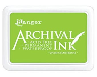 Ranger - Archival Ink Pad - Vivid Chartreuse