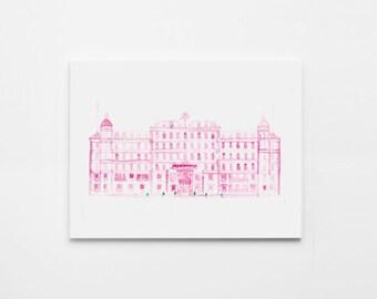 PINK HOTEL Original Illustration