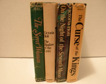 Four, Victoria Holt, Hardcover Novels with Dust Jackets, Secret Women, Lynx,Seventh Moon,Curse Kings, Free Shipping