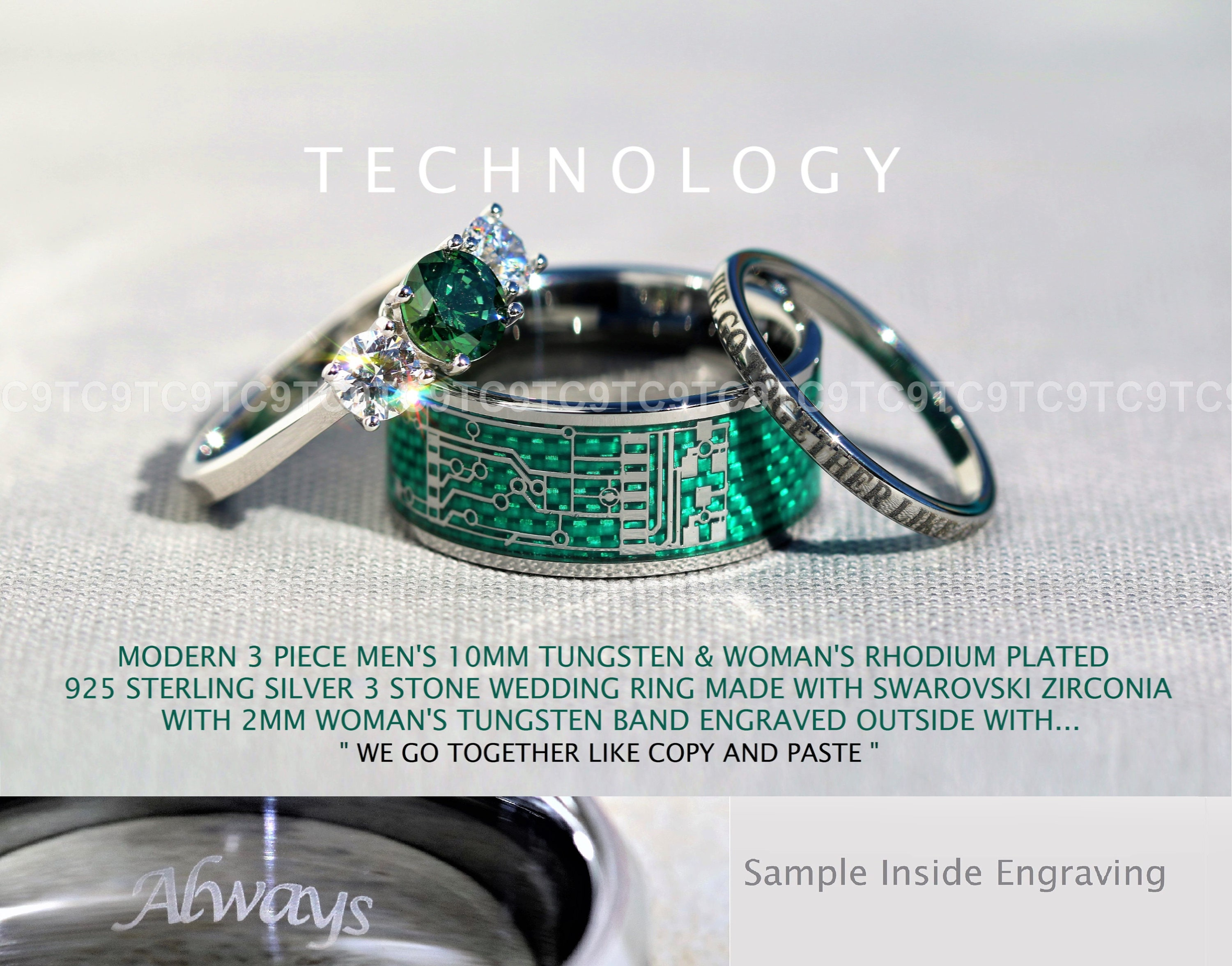ring mens diamond white image and in channel set emerald gold