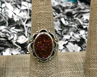 Weeping Willow DRUZY Sterling Silver Ring