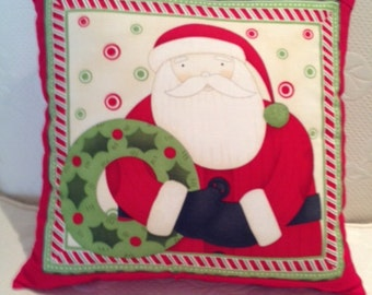 Holiday Red Santa Pillow Cover