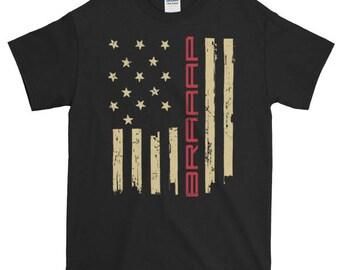 Motocross Dirt Bike American Flag Old Glory Short sleeve t-shirt