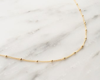 Satellite Chain Choker / Satellite Choker Necklace / Gold Satellite Necklace / Gold Satellite Choker / Gold Choker Necklace / Dainty Choker