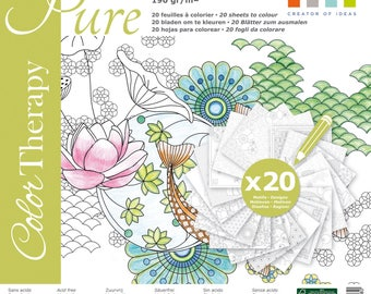 BLOCK scrapbooking paper Color Therapy PURE 30.5x30.5 cm coloring page adult coloring