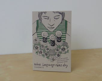 When Language Runs Dry, Number 2 - a zine for people with chronic pain and their allies