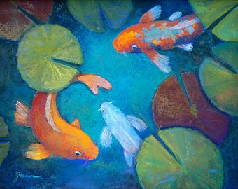 Koi Pond IV - Large Print