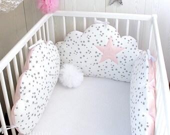 tour de lit nuage etsy. Black Bedroom Furniture Sets. Home Design Ideas