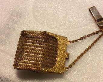 Antique Gold Filled Mesh Purse