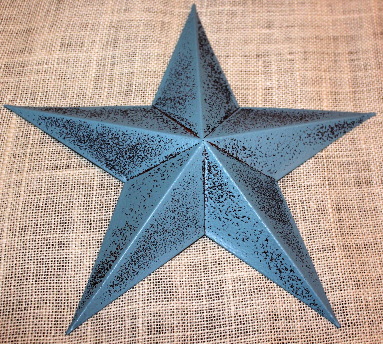 Set of 12 5 Metal Tin Barn Star Wall Decor