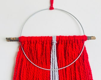 Red and Gray Wall Hanging