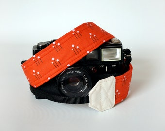 Red camera strap, women camera strap, kawaii strap, SLR DSLR camera strap, gift for her, Canon, Nikon