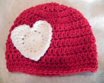 Infant Heart Hat Sizes Preemie to 12 Months