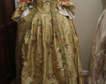 French Colonial  Silk Gown size 10-12