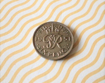 Sixpence 1951 coin